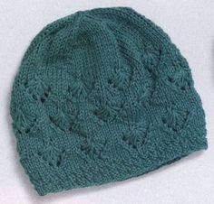 Две шапки из разной пряжи вязаные спицами