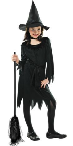 Girls Lil Witch Costume - Party City For Abby to be Wicked Witch from Wizard of Oz