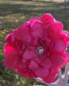 Hot PinkFlower Hair Clip Custom Orders are by TheQueensDaughters, $6.00