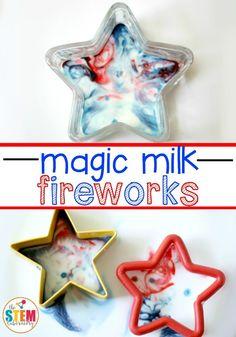 Patriotic Magic Milk