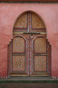 Morocco, mosaic door