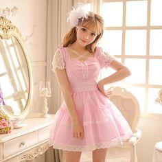 Candy rain Princess sweet lolita dress in the summer of 2016 new women's summer sweet little fresh lotus leaf female C16AB6067