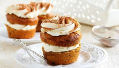 Carrot Cupcakes with Lemon Cream Cheese Frosting