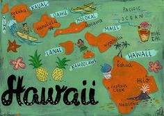 Postcards of The 50 States Hawaii by Christiane Engel