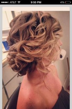 Exactly how I want hair for our wedding!