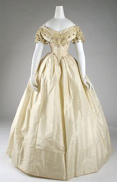 Dress - Dress Date: ca. 1860 Culture: American Medium: silk Dimensions: [no dimensions available] Credit Line: Gift of Mrs. J. Randall Creel, 1963