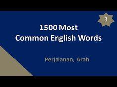1500 Kata Paling Umum Bahasa Inggris 03 - Perjalanan, Arah - YouTube
