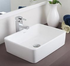 Buy Hindware Rubbic Table Top Basin-91041 in Washbasins through online at NirmanKart.com
