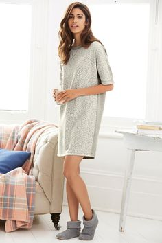 Buy Grey Animal Jacquard Sweater Dress from the Next UK online shop