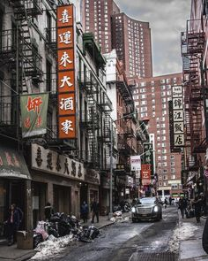 """""""Cadillacs in Chinatown"""" . credit: @e.plut . C'monBoard New York is your guide to the best events in New York City. To discover things to do in New York, keep an eye on the CB website [link in the bio] . . . ."""