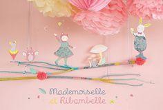 L'univers de Mademoiselle et Ribambelle par Moulin Roty disponible chez Saperlipopette Moulin Roty la Boutique à Tours.