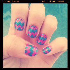 I never really do anything funky with my nails..  but this is cute and looks easy enough.  Might give it a try..