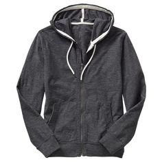 Gap Mens Slub Cotton Zip Up Hoodie - dark graphite grey ($38) ❤ liked on Polyvore featuring men's fashion, men's clothing, men's hoodies, mens grey hoodie, mens zip up hoodies, mens zip up hoodie, mens zip front hoodie and mens hooded sweatshirts