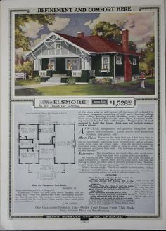 Honor bilt modern homes. Bungalow House Plans, Craftsman House Plans, Craftsman Style Homes, Craftsman Bungalows, 1940s Home, Exposed Rafters, Vintage House Plans, Stucco Exterior, Hip Roof
