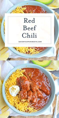 Red Beef Chili uses chunks of steak and simmers them to tender perfection in a chili tomato sauce. Serve over rice noodles or as a stew. Steak Chili Recipe, Chili Recipe Video, Best Chili Recipe, Chili Recipes, Seafood Recipes, Cooking Recipes, Recipe Videos, Salad Recipes, Beef Stew Stove Top