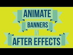 Animate On Banners - Adobe After Effects tutorial - YouTube