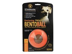 Starmark Everlasting Bento Ball - Medium - The Everlasting Beanie Ball is made from a highly durable, tear resistant material that holds up the the toughest chewers. The unique design allows it to rol erratically, enticing your dog to play. Fill with Every Flavor Treats or Everlasting Treats. Use the Everlocking Treats to create challengi...