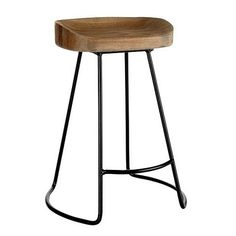 Love this $129 wood and steel barstool from Wisteria.