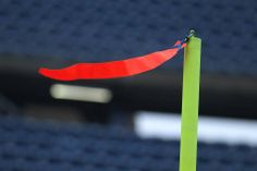 Pats windy goal post. Gillette.