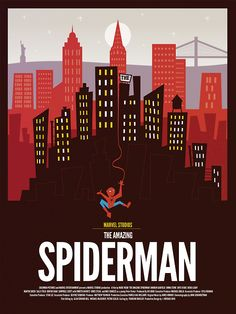"""""""The Amazing Spiderman"""" by Dave Williams.  http://minimalmovieposters.tumblr.com/tagged/the-amazing-spiderman"""