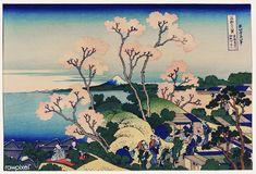 Katsushika Hokusai, Goten-yama hill, Shinagawa on the Tōkaidō, ca. 1832 - Trente-six vues du mont Fuji — Wikipédia Vincent Van Gogh, Japanese Art Prints, Japanese Artists, Rembrandt, Monet, Era Meiji, Art Occidental, Mont Fuji, Kunst Online