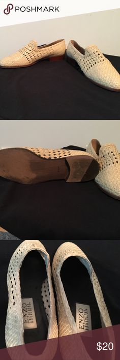 Enzo Angiolini loafer Beige loafer ever so lightly worn no athletes foot or toe fungus Enzo Angiolini Shoes Flats & Loafers