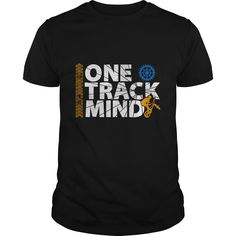 Get your exclusive online only, One Track Mind T-shirt. Ideal gift for all into all-terrain biking, mountain biking, off road biker fans and trail bikers.