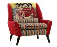 Retro el sillón Beatles Andrew Martin tela
