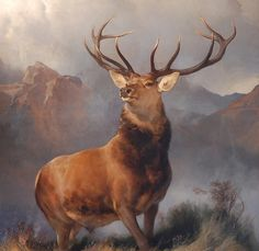 Sir Edwin Henry Landseer (1802-1873, England) | the Monarch of the Glen, 1851
