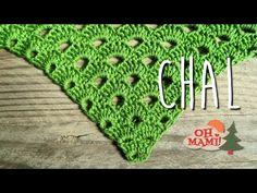 CHAL FÁCIL DE ABANICOS (EASY SHAWL) - YouTube