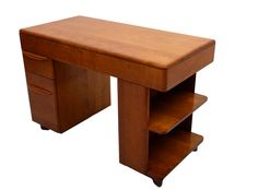 Heywood Wakefield Desk Bookcase Built In Mid Century by AMBIANIC, $575.00