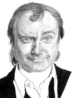 hes grand Up Music, Music Lyrics, Face Distortion, Phil Collins, Cool Sketches, Pencil Portrait, Celebs, Celebrities, Funny Faces