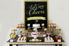 Little Big Company | The Blog: Cheers, Let's Celebrate, A Gold and Glitter party by Sweet Details | Glitter & Glam Bachelorette Party Bridal Shower