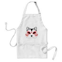 Japanese cat mask adult apron - home gifts ideas decor special unique custom individual customized individualized