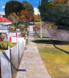 Shaun Tan: Footpath, Fifth Avenue' 2004, oil on canvas, 110 x 120 cm. A view of the footpath outside my studio in Mt Lawley, Perth.