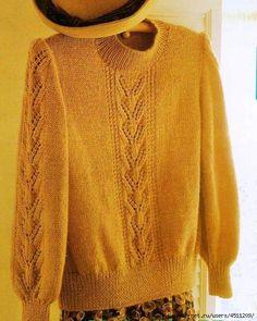 95212005_m (513x643, 234Kb) Double Crochet, Knit Crochet, Knitting Buttonholes, Rubrics, Handicraft, Pullover Sweaters, Knitting Patterns, My Style, Lady