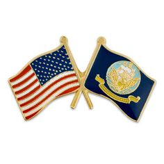 PinMart's USA and United States Navy Crossed Friendship Flag Enamel Lapel Pin - CV11LBK4UUV - Brooches & Pins  #jewellrix #Brooches #Pins #jewelry #fashionstyle