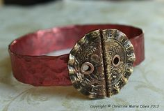 Your place to buy and sell all things handmade Gypsy Style, Boho Gypsy, Bracelet Making, Jewelry Making, Bangle Bracelets, Bangles, Button Button, Copper Tubing, Knitting Supplies