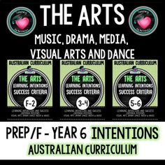 The Arts Learning GOALS Bundle Prep/Foundation - Year 6 Australian Curriculum Education And Literacy, Primary Education, Elementary Schools, Visible Learning, Success Criteria, Learning Goals, Australian Curriculum, Beginning Of The School Year, Learn Art