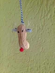 Elch aus Spanischer Nuss #christmas#peanuts#funny