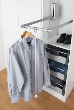 Pull Down Wardrobe Rail | Wardrobe Lift