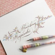 Hello! I'm having a Flourishing and Majuscules workshop on 9 September at Overjoyed. You'll learn how to design your own flourished majuscules as well as use flourishing on larger pieces. You'll also go home with your own colourful magic lead pencil which is great for creating vivid flourished pieces on the go. For more details and sign-ups, please go to…