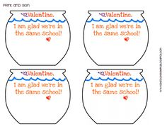 Backless Shirt: Goldfish Valentine [a re-post] with a Printable Template!!!!