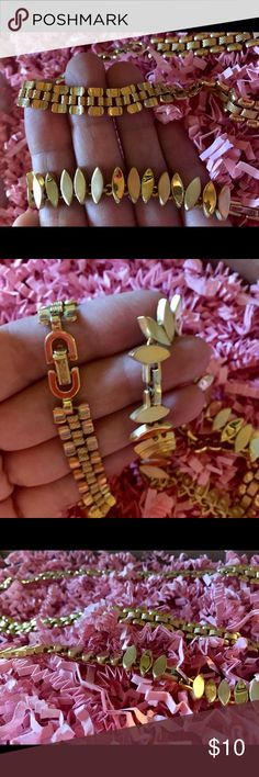 Two Gold Necklaces Two gold necklaces, not real gold, just costume jewelry. Jewelry Necklaces