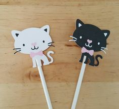 Tuxedo cat cupcake toppers set of 12 black and от JCPaperPlace