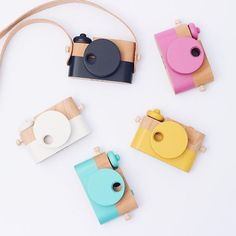 Children learn as they play and our classic wooden toy camera encourages creativity and imagination. Each is handmade in Utah from solid cherry wood