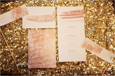 Love this watercolor wedding stationery by Chelsea Barrett
