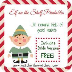Elf on the Shelf Bible Verse Printables - Frugal Homeschool Family