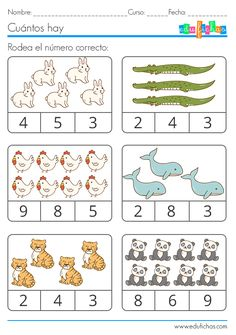 Preschool Math Games, Numbers Preschool, Kindergarten Math Worksheets, Preschool Learning, Teaching Math, Preschool Activities, English Activities For Kids, English Grammar For Kids, Math For Kids