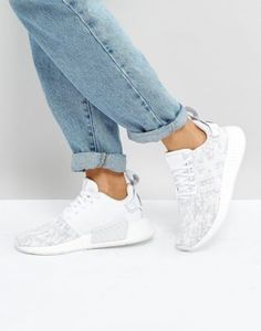 d97cf5f85 adidas Originals NMD R2 Sneakers In White And Gray at asos.com